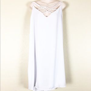 Charlotte Russe   White Strappy Caged Shift Dress